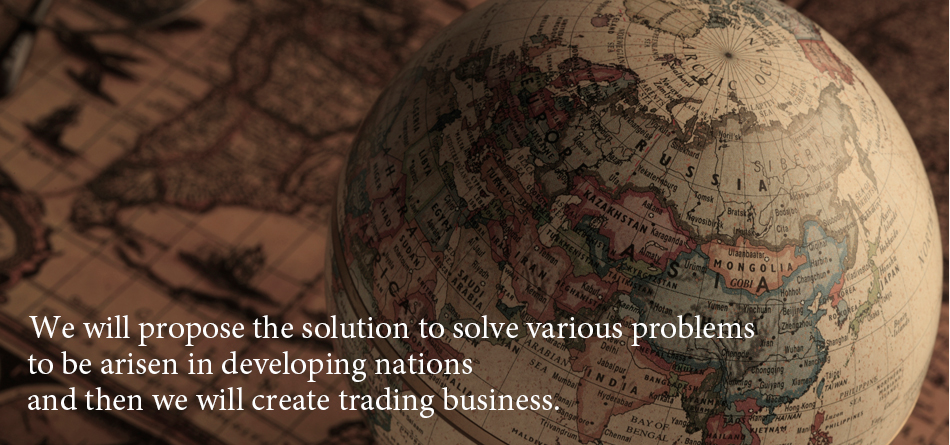 I suggest the solution for various problems of developing countries and bring about commercial distribution